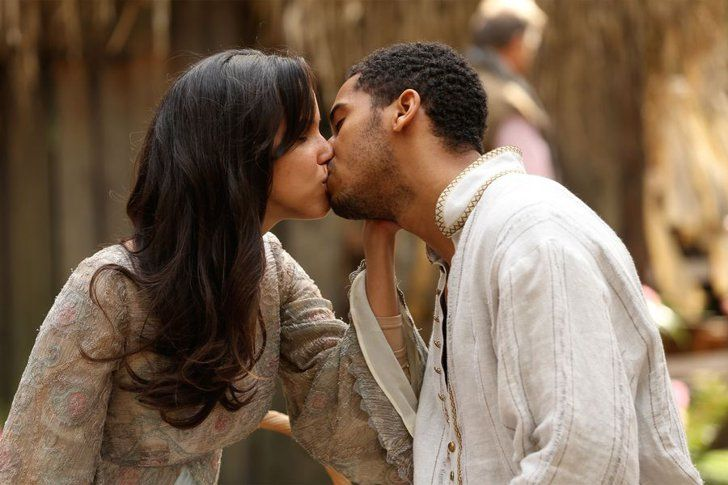 Pin for Later: Prepare For 2016 With TV's Sexiest Pictures From the Past Year Once Upon a Time Nimue (Caroline Ford) and Merlin (Elliot Knight) are adorable.