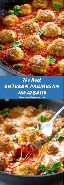 My BEST #Recipes >> CHICKEN PARMESAN MEATBALLS | >5< blogrecipe5