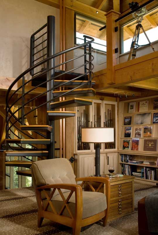 20 best cabin staircases images on pinterest ladders Ranch style staircase