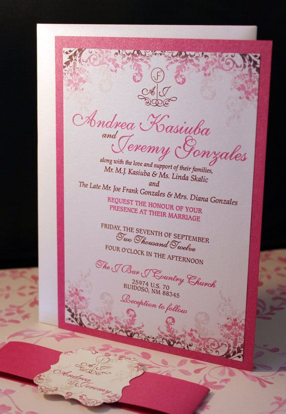 58 best Wedding Invitations images on Pinterest
