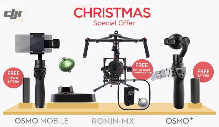 DJI - Christmas & New Year's Promotion Acquista i nostri prodotti DJI* e otterrai in omaggio delle batterie o degli accessori extra per le vacanze!