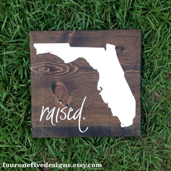 Florida Raised Wood Sign State Sign Wood by fouronefivedesigns, $35.00