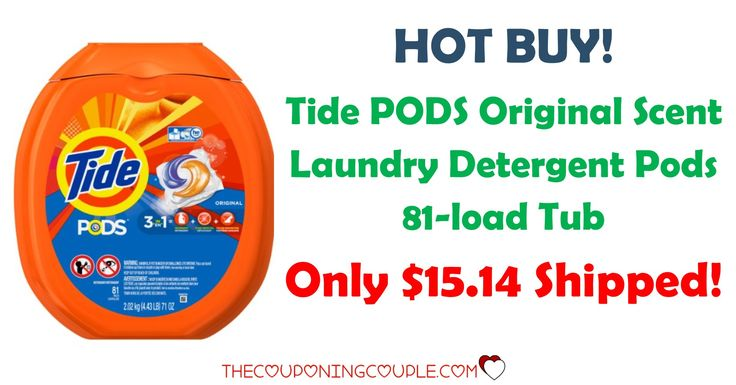 HOT HOT HOT BUY! Get Tide Pods 81 Count for only $15.14 with FREE shipping! Less than $0.19 per pod and A LOT CHEAPER than Walmart's price!  Click the link below to get all of the details ► http://www.thecouponingcouple.com/tide-pods-81-count/ #Coupons #Couponing #CouponCommunity  Visit us at http://www.thecouponingcouple.com for more great posts!
