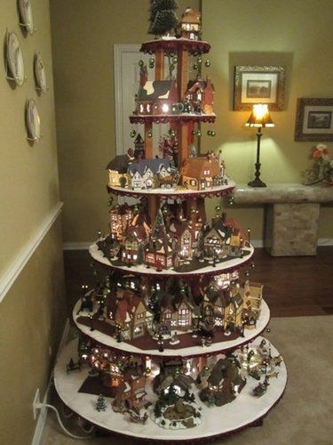 701 Best Christmas Villages Images On Pinterest