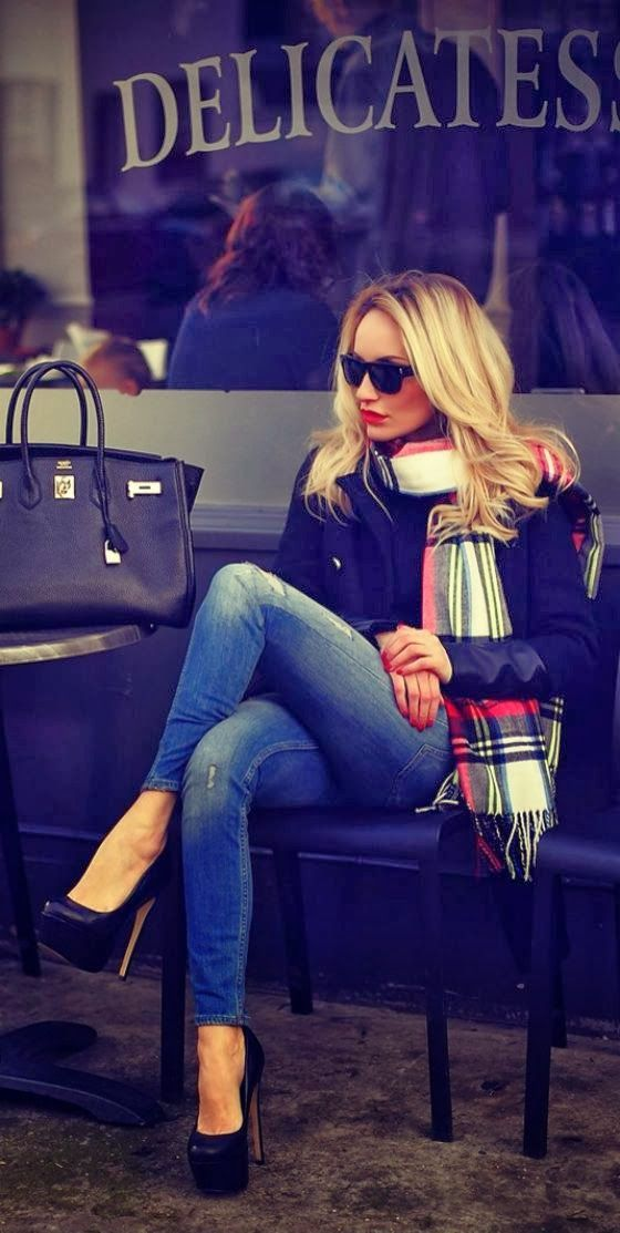 #fall #fashion / plaid scarf