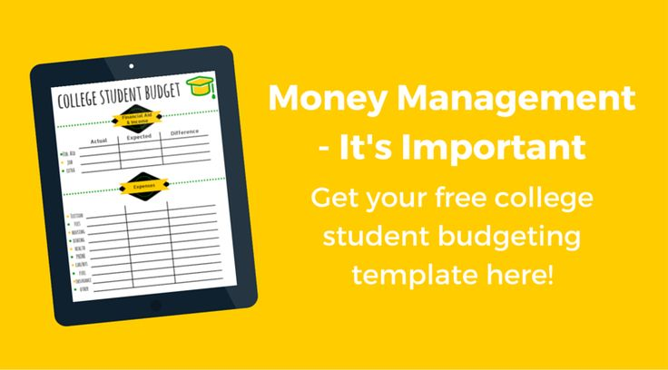 College student budget template - Free printable to help you save money and keep track of expenses!