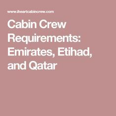 25 Best Ideas About Emirates Cabin Crew On Pinterest