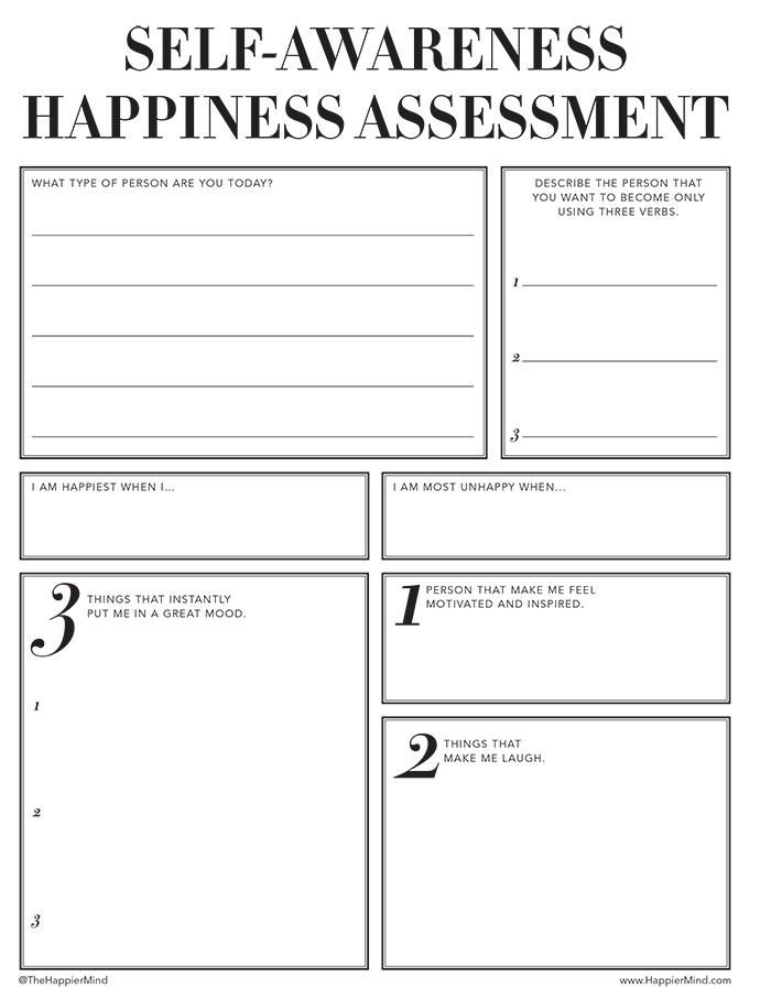 Print The Free Happier Mind Worksheets And Start Changing Your