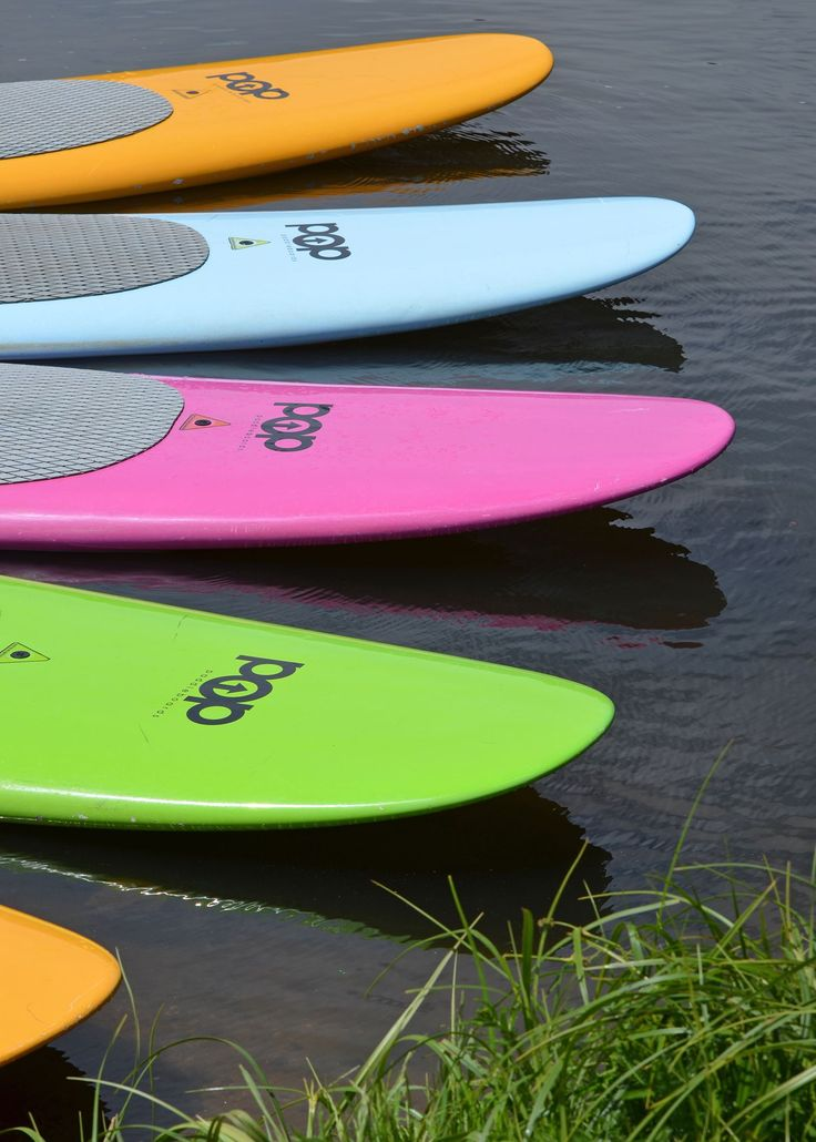 """Anyone up for some paddle boarding? This colorful photograph was submitted to the """"2017 Why I Love Evergreen Photo Contest"""" by Abby Wilkins, labeled """"SUP"""". Paddle boarding is popular among Evergreen locals but even more popular with vacationers and tourists. Evergreen Lake is a prime spot to paddle board, canoe or fish on in the summer time. Come on out and enjoy the fun!"""
