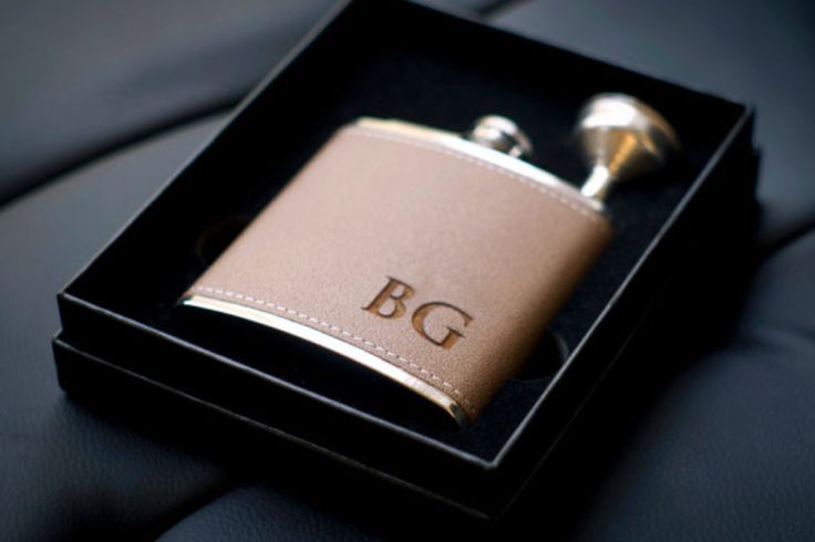 Personalized Flask - 10 Great Groomsmen Gift Ideas - Southernliving. BUY IT: From $9.50; Etsy.com  Fill it with his favorite spirit, and he might let you have a sip to calm your nerves before the ceremony.