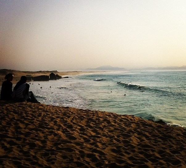 Afternoon surf in Capbreton
