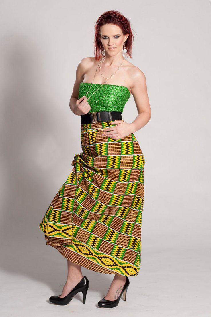 Afrika Elbise Baskı Büstiyer Mini Dorisdey tarafından Maxi Kente Tasarım