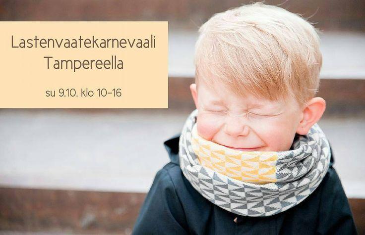 #repost @kauneve -  Sunnuntaina Tampereen Pakkahuoneella @Lastenvaatekarnevaali jihuu!  #kauneve #lastenvaatekarnevaali #merinovilla #merinowool #tampere #lastenvaatteet #kidsclothes #messut #myyjäiset #tuubihuivi #asusteet #kidsscarf #accessories  #madeinfinland #tampere #tampereallbright #tampereellatapahtuu