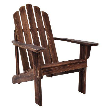 Marina Rustic Adirondack Chair - Rustic Wine, Red
