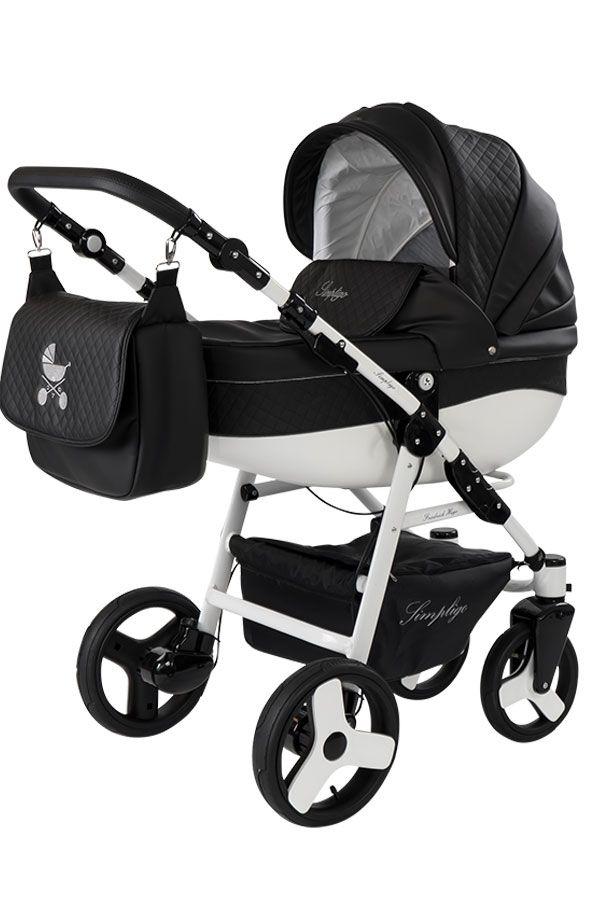 Friedrich Hugo Easy Comfort | 4 in 1 Kombikinderwagen + ISOFIX | Farbe: Schwarz & Kunstleder   – Erstausstattung – Babyausstattung