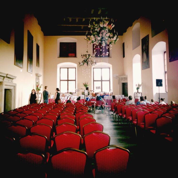 Concert hall, castle. Poland July, 2013