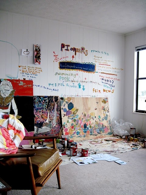 Studio of artist Casey O'Connell