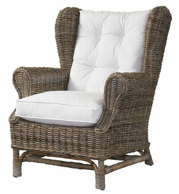 rattan chairs wicker wing back chair kubu style decor4ucom