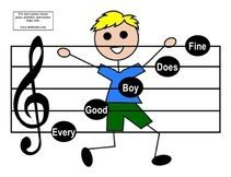10 FREE Printable Music Teacher Aides for helping students learn the Lines and Spaces of the Treble and Bass Clef Staff
