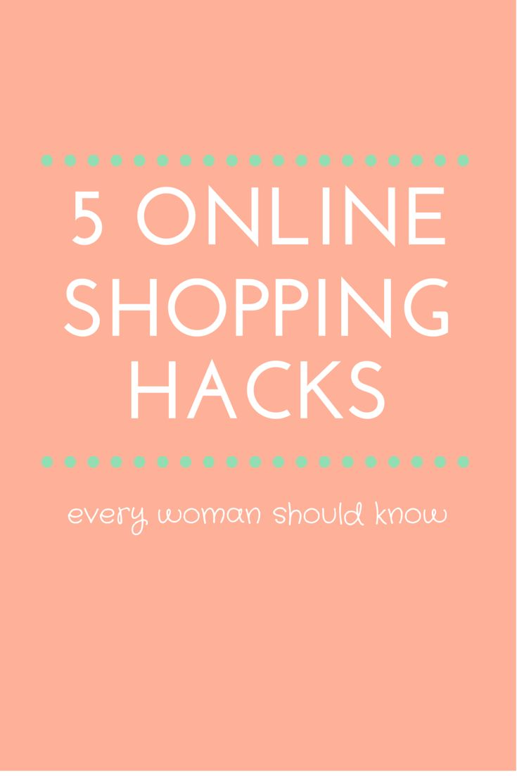 5 Online Shopping Hacks You NEED to Know: tons life-changingly good tips, tricks, and website suggestions for saving money online. Never pay full price again!