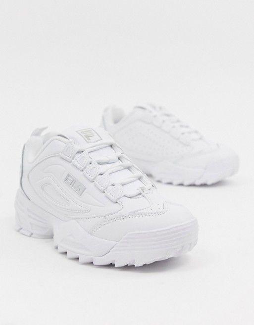 92975fd7666 Fila Triple White Disruptor 3 Sneakers in 2019 | shoes | Fila ...