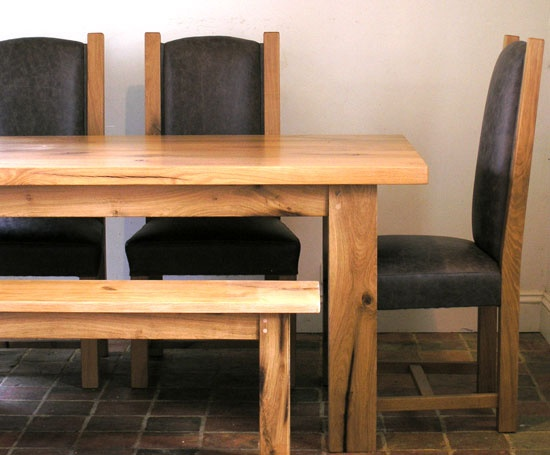 Reclaimed Oak Table And Chairs By Makers Bespoke Furniture