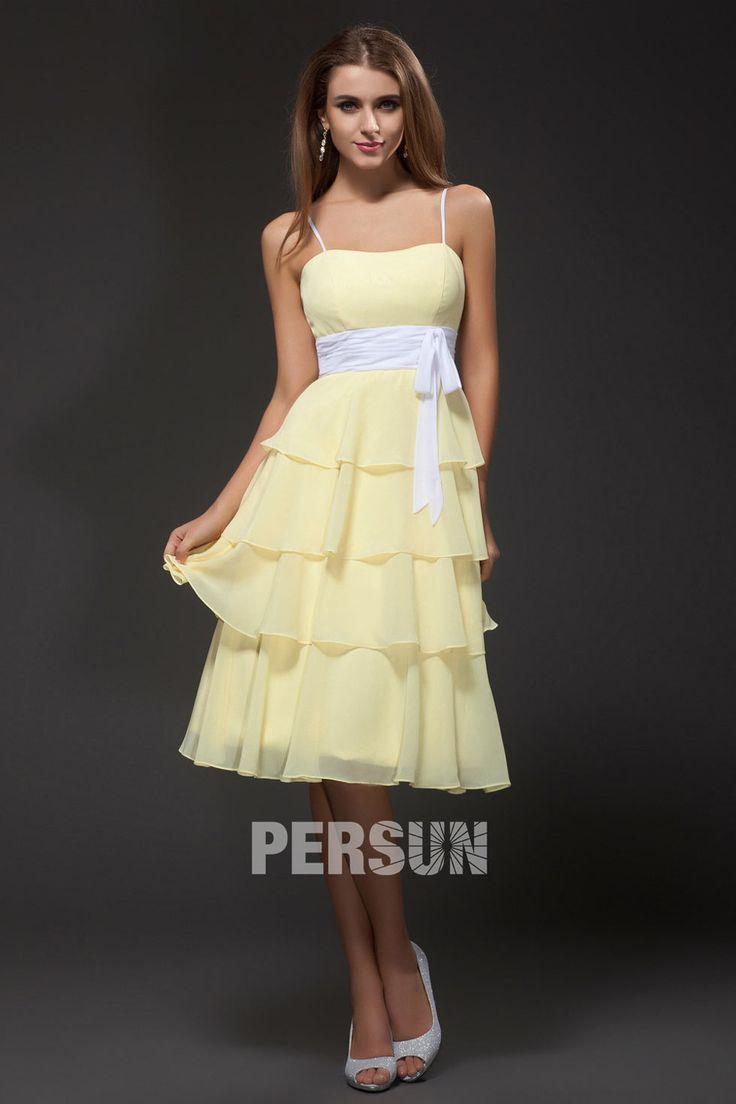1000 id es sur le th me robe blanche cocktail sur for Robe jaune pour mariage