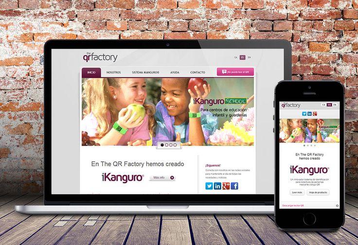 Diseño de página web The QR Factory. By Dolphin Tecnologías