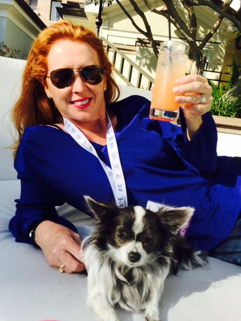 Catherine's lounging with Lily at Reelscreen West.
