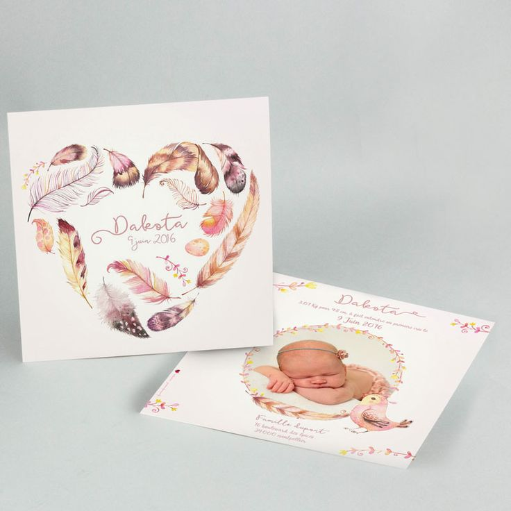 Un faire-part naissance cocooning avec une touche de légèreté et de délicatesse apportée par ses couleurs pastels.