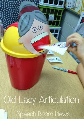 Speech Room News: There Was an Old Lady..... Articulation. Pinned by SOS Inc. Resources. Follow all our boards at pinterest.com/sostherapy for therapy resources.