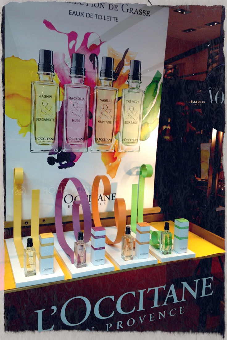 L 39 occitaine window display consistently attractive for Creative window designs