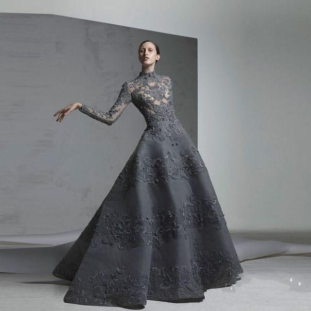 Коктейльные платья серые