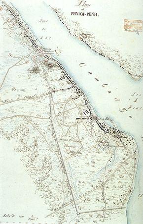 Historical Map - Phnom Penh 1867