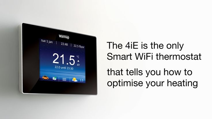 Introducing the new Warmup 4iE Smart WiFi Thermostat. Learn more at www.warmup.co.uk/4iE