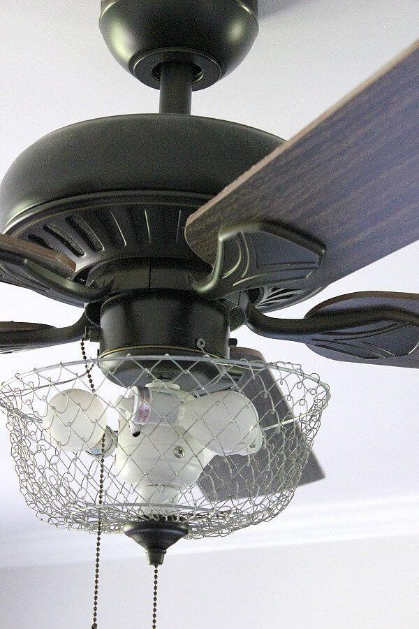 DIY Farmhouse Fan 1000 in 2020 Ceiling fan makeover