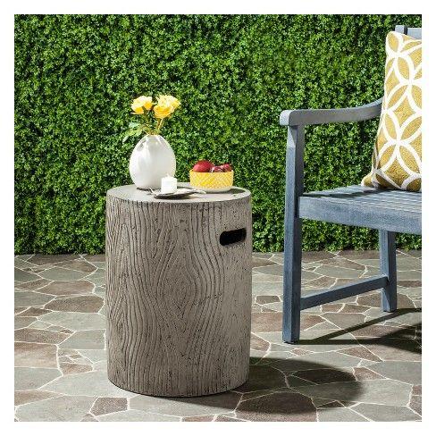 Safavieh Trunk Round Concrete Accent Table