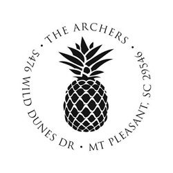 Pineapple Address Stamp by Noteworthy Collections