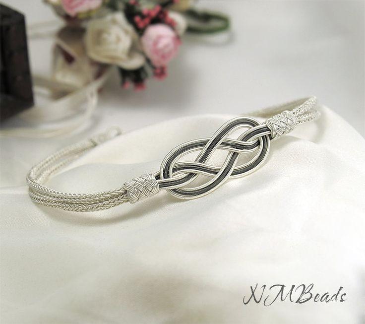Fine Silver Celtic Knot Bracelet Infinity by NMBeadsJewelry