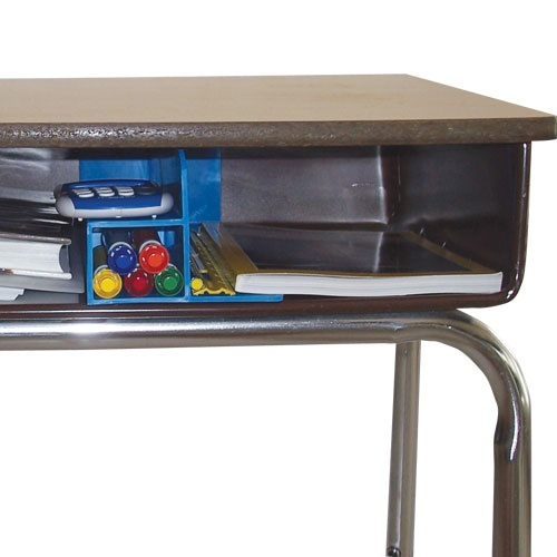 Student Desk Organizer.  Hopefully if I ever get these desks