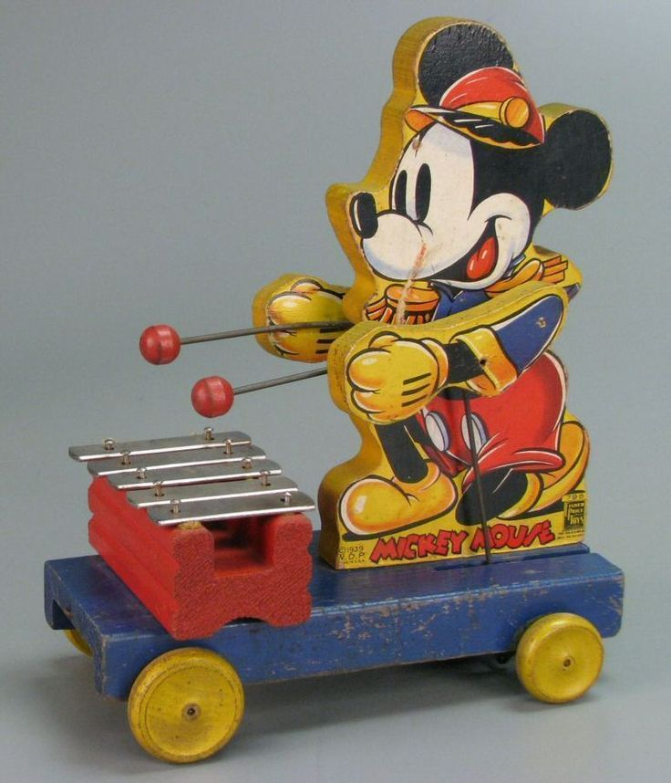 111.3834: Fisher-Price Mickey Mouse Xylophone | pull toy | Pull Toys | Toys | Online Collections | The Strong