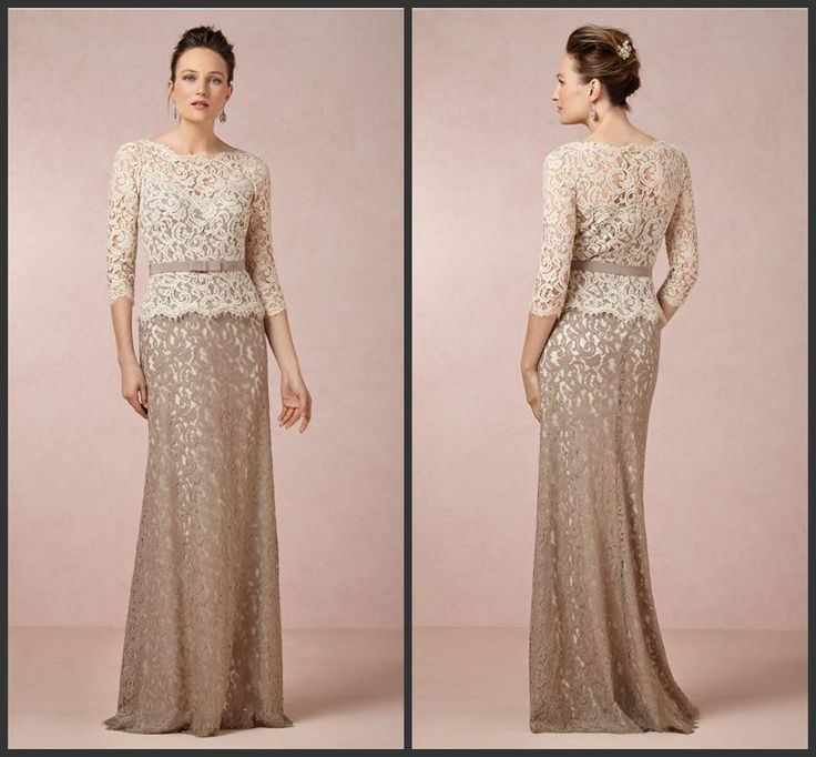 Cream lace dress 3 4 sleeve homecoming dresses