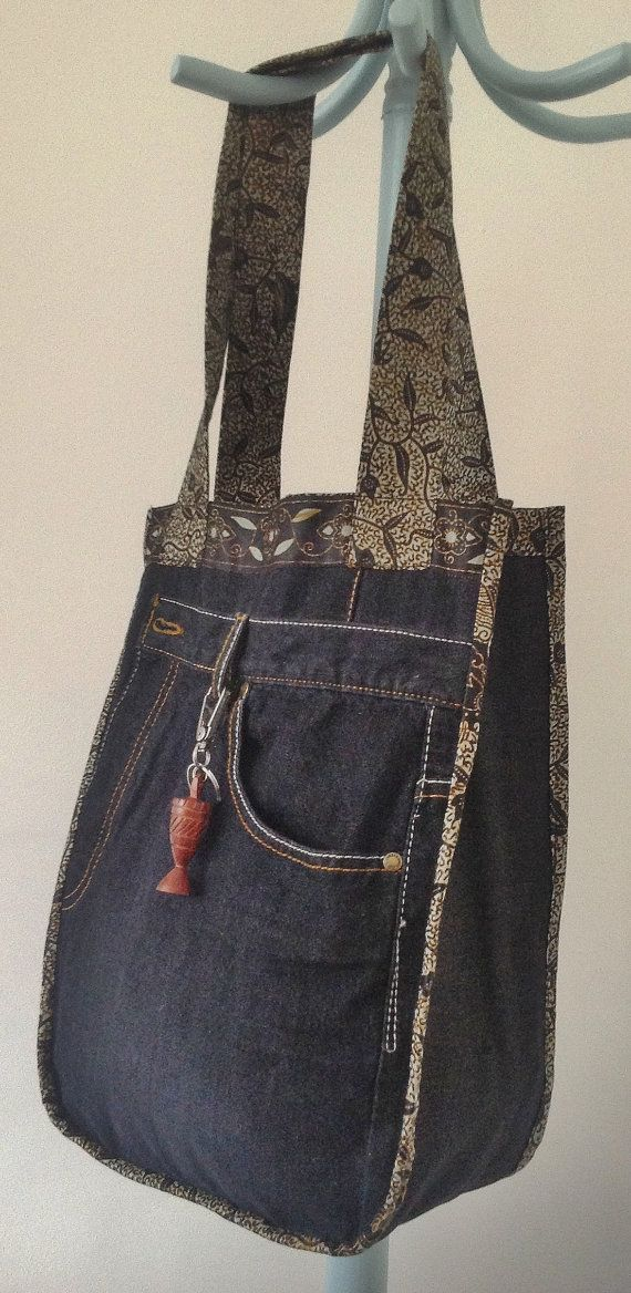 Reversible African Print and Denim bag by BOLDStitch on Etsy, £45.00