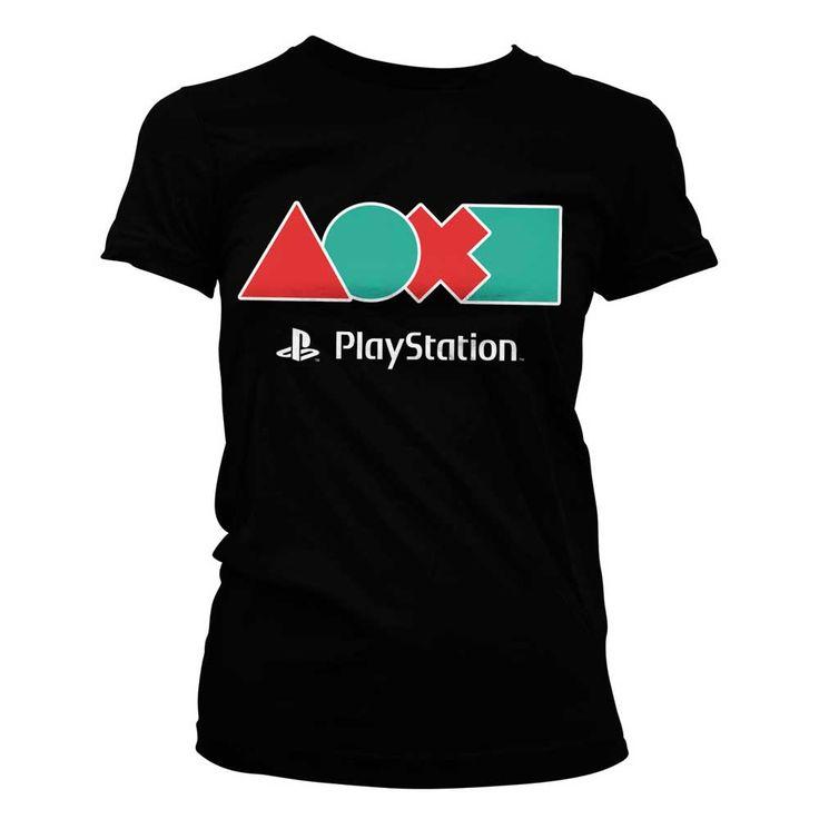 Hybris PlayStation - Button Icons dames T-shirt zwart - Games merchand