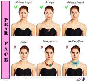 pear shaped face right necklaces
