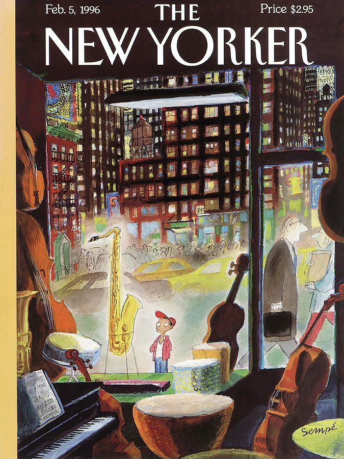 Première page du New Yorker (5 février 1996)