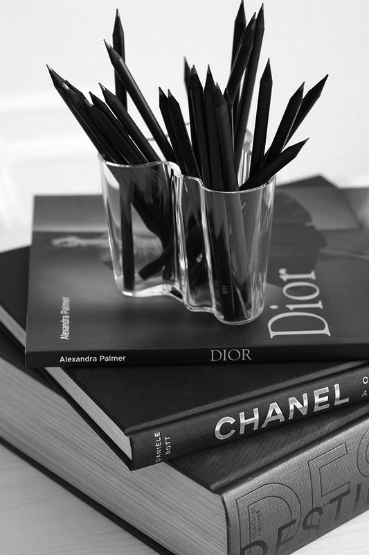 iittala Aalto sits beautifully next to Dior and Chanel - agree!