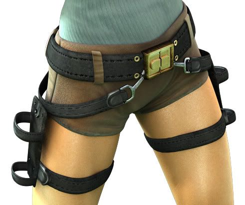 Tomb Raider Costume: belt and holsters