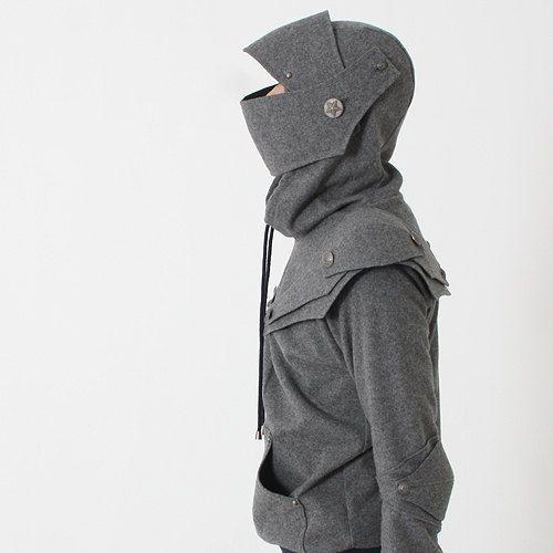 Arthur Knight  Medieval Armor Pullover Hoodie(100% Handmade Wool) Made To Order. $218.00, via Etsy.