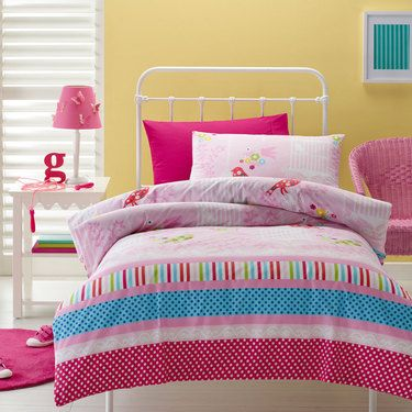 Kids House Spot Menagerie Quilt Cover Set Pink Single | Spotlight New Zealand